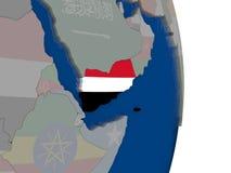 Yemen with its flag Royalty Free Stock Image