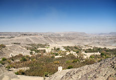Yemen landscape near sanaa. Arid yemen landscape near sanaa with khat plantations Stock Images