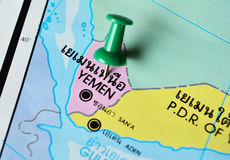 Yemen map Royalty Free Stock Images