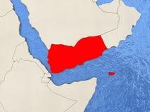 Yemen on map Royalty Free Stock Image