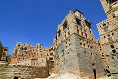 Yemen. Medieval houses in Habbabah, traditional mountain village in Yemen Stock Images