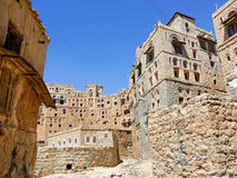 Yemen. Medieval houses in Habbabah, traditional mountain village in Yemen Royalty Free Stock Image
