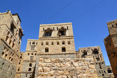 Yemen. Medieval houses in Habbabah, traditional mountain village in Yemen Royalty Free Stock Images
