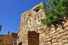 Yemen. Medieval houses in Thula, traditional mountain village in Yemen Stock Photos