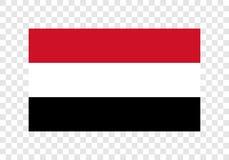 Yemen - nationsflagga stock illustrationer