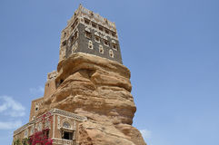 Yemen, the Palace of the Imam in the Wadi Dhar in Sana'a Stock Images