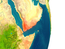 Yemen on planet Royalty Free Stock Photography