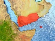 Yemen in red Royalty Free Stock Image