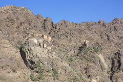Yemen , rock village. Village perfect harmony with the nature in yemen Stock Images