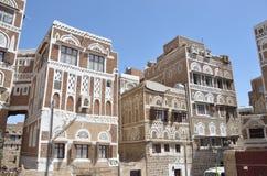 Yemen Sana'a, den gamla staden royaltyfri bild