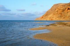 Yemen. Socotra island. Detwah Lagoon at sunset Royalty Free Stock Photo