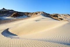 Yemen. Socotra island. Sand dunes of Detwah Lagoon.  stock photos