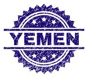Scratched Textured YEMEN Stamp Seal vector illustration