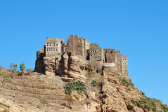 Yemen. Traditional mountain village in Eastern Haraz. Yemen Royalty Free Stock Image