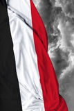 Yemen waving flag on a bad day Stock Images