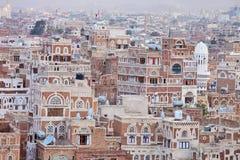 yemeni дома традиционный стоковое изображение