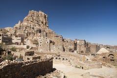 Yemeni dorp dichtbij sanaa Yemen stock foto's