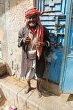 Yemeni man, Old City of Sana'a, turban, Yemen Stock Images