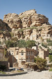 Yemeni mountain village near sanaa yemen Stock Photo