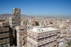 yemeni sanaa типичный Иемена зодчества Стоковая Фотография