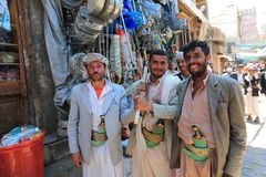 Yemeni  on Sanaa street Royalty Free Stock Photo