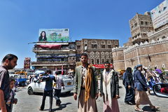 Yemeni  on Sanaa street Royalty Free Stock Images