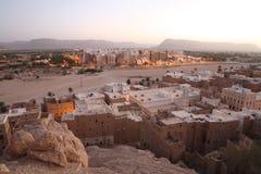 известный yemeni городка shibam стоковая фотография