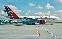 Yemenia-Luchtbus A310 F-OHPQ die uit voor start taxi?t Royalty-vrije Stock Fotografie