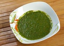 Yemenite sauce zhug Stock Images