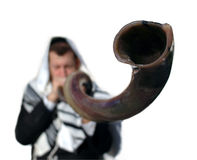 Yemenite shofar Stock Afbeelding