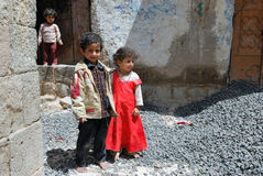 Yemeny children outdoor Stock Images