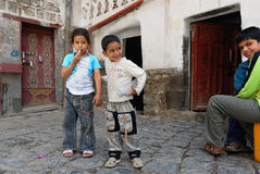 Yemeny children outdoor Royalty Free Stock Image