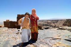 Yemenykinderen openlucht Royalty-vrije Stock Fotografie