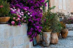 Yemin Moshe区,耶路撒冷,以色列 免版税图库摄影
