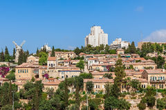 Yemin Moshe neighborhood in Jerusalem. Stock Photos