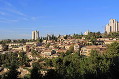 Yemin Moshe neighborhood and Montefiore Windmill in Jerusalem, Israel Royalty Free Stock Photos
