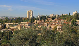 Yemin Moshe neighborhood and Montefiore Windmill in Jerusalem, Israel Stock Photography