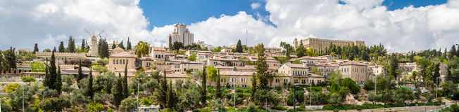 Yemin Moshe neighborhood, panorama Stock Photo