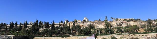 Yemin Moshe panorama Zdjęcia Stock
