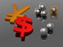 Yen - 3D Dollar - Stock Afbeelding