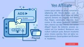 Yen Affiliate Conceptual Banner Image stock