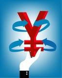 Yen, vector illustration
