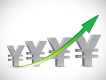 Yen arrow up illustration design Stock Images