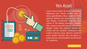 Yen Asset Conceptual Banner Fotografía de archivo libre de regalías
