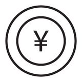 Yen. Banking and finance icon set suitable with your content Royalty Free Stock Photo