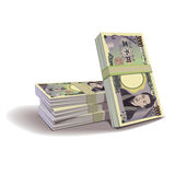 Yen banknotes  illustration, financial theme Royalty Free Stock Image