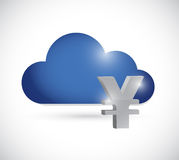 Yen cloud currency concept illustration Stock Photography