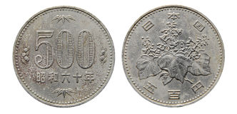 500 yen coin Royalty Free Stock Photography