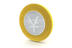 Yen Coin Stock Photography