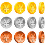 Yen Coins Royalty Free Stock Images
